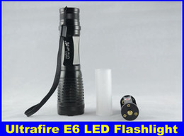 Wholesale Cheap Cree Driving Lights - 2015 Cheap Ultrafire E6 LED Flashlight 1800 Lumens 5-Mode CREE XM-L T6 Zoom In Out LED Torch Light 18650 & DHL Free Delivery