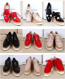 Wholesale Lace Up Wooden Heels - Stella Elyse Shoes Eyewear Runway New Britt Shoes Britt Wedge Lace-up Platform Shoes Star Wooden-wedged Oxfords Shoe