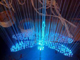 Wholesale Fiber Optic Length - Wholesale-Fasion fibra optica cable design lighting colorful dragonfly shape fiber crystal lamp length 0.8 m fiber optic cable led rgb