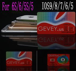 Wholesale Gevey 4g - Newest E-paper Gevey Sim Unlock Card Perfect unlock 4g 3g ios9 ios 8 7.X 9 for iphone 6S 6 5s 6plus 4s us AT&T Sprint sim WCDMA CDMA GSM