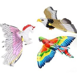 Wholesale Flashing Novelties Kids - Novelty Flash Simulation Electric Flying eagle bird rotate Children Kids Toys