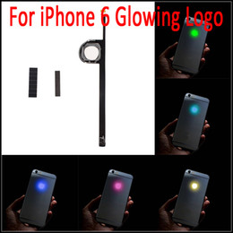 Wholesale Iphone Back Logo - For iPhone 6 Luminescent Glowing Logo LED Light Up Transparent Logo Mod Panel Kit Back Cover For iphone6 4.7inch Free Shipping