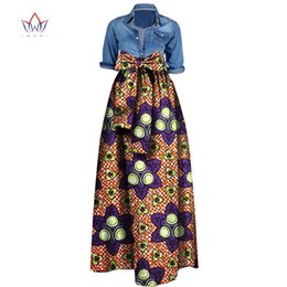 Wholesale Woman Long Skirt Plus Size - Wholesale- Summer Woman Long Maxi Skirt for Women African Dashiki for women Bazin riche robe longue femme Plus Size Skirt natural wy1036