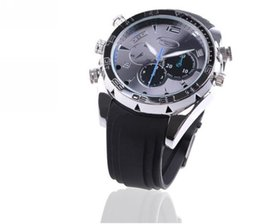Wholesale 32gb Watch Spy Camera Hd - Camcorders Wrist spy Watch 32GB watch camera HD 1080P Spy Camera watch Waterproof and Night Vision Audio Video Voice Recorder W5000