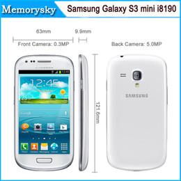 Wholesale Android Cell Phone S3 Mini - Refurbished Original Samsung I8190 Galaxy SIII mini Mobile Phone Galaxy S3 Mini Cell Phone Dual-core 1G 8GB Android Phone Unlocked 002668