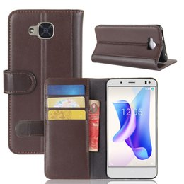 Wholesale U2 Cover - Flip Cover for BQ Aquaris U2 U2 Lite,TPU+ Genuine Leather Wallet Stand Case with Card Slots