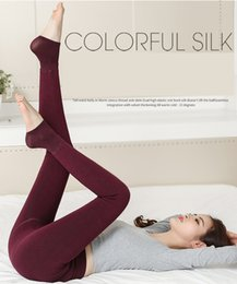 Wholesale Sexy Leggings Tights Feet - 2017 New Fleece Leggings Warm Winter Faux Velvet lined Legging Knitted Thick Sexy Slim Leggings Tights Elastic pantyhose Feet Leggings