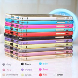 Wholesale Iphone Luxury Case Aluminium - For iPhone 7 Arc Luxury Slim Thin Double Color Case Cover Aluminium Alloy Metal Bumper Frame For iPhone 5s 6 6s plus 7 7plus