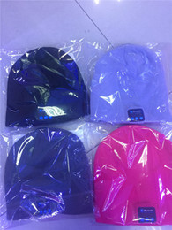 Wholesale Iphone Tie - Bluetooth Music Soft Warm Hat With Stereo Headset Speaker Wireless Hands-free Cap For iPhone Samsung Android Phones