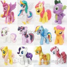 Wholesale Rarity Plush - Wholesale-6pieces   set little pvc Action Toy Figures Hobbies ponies Princess Celestia luna Unicorn plush doll - Rarity kunai
