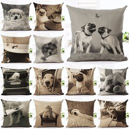 Wholesale Kid Pillow Pet - New Arrival Angel Bull Terrier Cushion Covers Dog Pet 45x45cm Soft Material Pillow Cases For Kids Baby Girl Boy Bedroom Decor