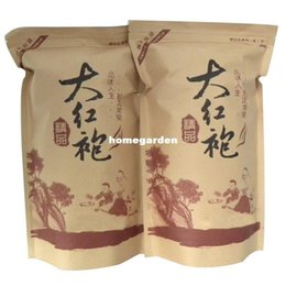 Wholesale Hong Sales - Wholesale-SALE! 125g Chinese Da Hong Pao Big Red Robe Oolong Tea Original Gift Tea Oolong China Healthy Care Dahongpao Tea+Gift Tea Set
