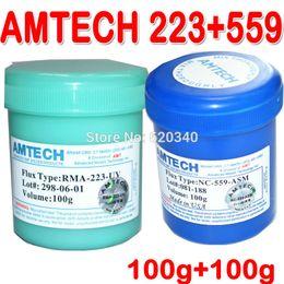 Wholesale Reballing Solder - 2 in 1 AMTECH RMA-223+559 Leaded bga solder paste No-Clean BGA Reballing Solder Ball Repair Solder Soldering Flux Paste 100g order<$18no tra