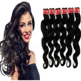 Wholesale Price Wave - Brazilian Body Wave Hair Extensions Color 1b Color 2# Healthy End 6 Bundles lot 50g Piece 100% Human Hair Weaves Factory Price