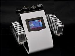 Laser tripolar on-line-Novo 18 Almofadas Lipo Máquina de Emagrecimento A Laser Ultra-sônica Cavitação Radiofrequência RF Tripolar Multipolar Cuidado Facial Perda de Peso