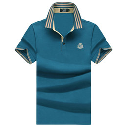 Wholesale Shirt Y - Y&SDEMEANOR 2018 summer style Exemption from postage Short Sleeve Men 100% Silk Lapel 3XL Green Purplish red t-shirts Brand t shirt men
