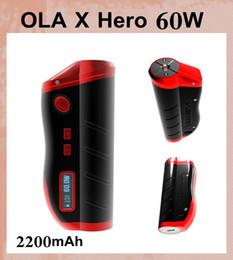 Kanger caixa mod bateria on-line-Original MJtech OLA X Herói 60 W Caixa Mod Variável potência 20 W-60 W construído em 2200 mAh 18650 bateria mod VS Kanger KBOX 50 W caixa mod TZ379