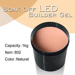 Wholesale Clear Color Uv Gel - 802X 1kg Barrel CANNI Factory Hot Sale Nail Art Clear Transparent Color LED UV Builder Gel, Raw Material Soak Off LED Gel Camouflage UV Gel