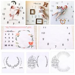 Wholesale Handmade Homes - 10 Styles 100*100cm INS Blanket Infant Baby Photography Props Mattre Wrap Flower Printed Soft Blanket Kids Photography Props CCA7953 50pcs