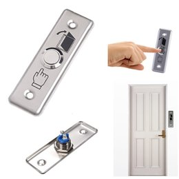 Wholesale Exit Push Button Switch - Convenient Stainless Steel Switch Panel Door Exit Push Home Release Button Access Control