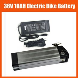 Wholesale E Bike Scooter - 36V Electric Bike battery 36V 10AH LiFePO4 battery Silver fish 36V E-bike e-scooter battery LFP with 2A charger TOP discharge