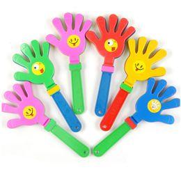artigos de plástico Desconto 1 pc Moda colorida badalo mão Concerto festa torcendo adereços crianças clap Noise Makers pequenas mãos batendo palmas brinquedo
