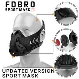 Wholesale Man Costumes - FDBRO Sports Masks Black Masks Men Women Phantom Good Quality Training Sport Fitness Mask2.0 EVA Package With Box Free Shipping