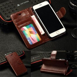 Wholesale Iphone 4s Flip Case Cards - Luxury-Magnetic-Flip-Cover-Stand-Wallet-Leather-Case-For-iPhone-6-Plus-5S-5-4S-4 Luxury-Magnetic-Flip-Cover