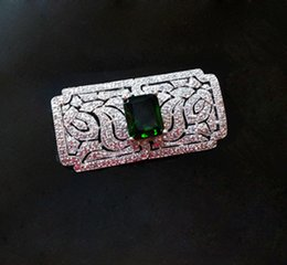 Wholesale Korean Import High End Jewelry - South Korean imports of simple wild emerald brooch free shipping brooch Korean version of high-end fashion jewelry gift woman