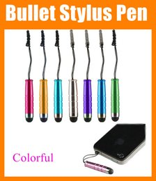 Wholesale Stylus Bullet - Bullet Stylus Touch Pen with Dustproof Plug Capacitive portable mini touch screen Pen For iPhone Samsung galaxy Tablets PC laptop STY003