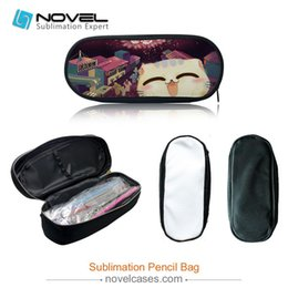 Wholesale Customised Bags - New Sublimation Blank Canvas Pencil Bag Stationary set, Customised Blank Pencil Case