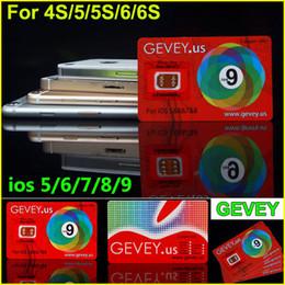 Wholesale T Mobile Unlock Phones - Newest Gevey Sim Unlock Card Perfect unlock for iphone 6S plus 6 6plus 5s 4s ios9 ios 8 ios7.X AT&T T-mobile AU SB DOCOME Sprint phones