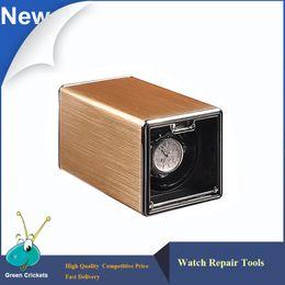 Wholesale Golden Motor - Wholesale- 2017 Latest Golden Shell Automatic Watch Winder box,Ultra Quiet Motor 4 Modes Watch Winder