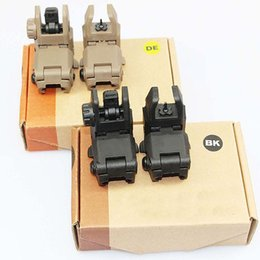 Wholesale Back Up Sights - Back-up Sight Gen 1 Front And Rear Folding Sights For Airsoft Accessories BK DE Free Shipping