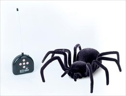 Wholesale Plastic Insects Toys - New arrival Remote Control Black spider electronic pet robotic insect toys RC Spider Toy For Kids Birthday Xmas Gifts free shipping