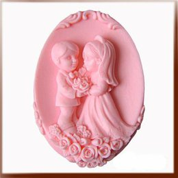 Wholesale Silicon Wedding - new 2013 wedding rose lover gift soap Handmade soap silicone mold , silica gel mould,silicon candle moulds, wholesale