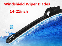 Wholesale Mitsubishi Hyundai - Windshield Wipers 14-26 inch Car Flat Upgrade Frameless Bracketless Rubber Windshield Windscreen Wiper Blade