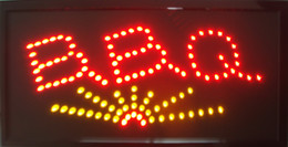 """Wholesale Bbq Lights - 2016 Animated BBQ LED Sign 19"""" x 10"""" LED Business Light Sign of LED Free Shipping"""