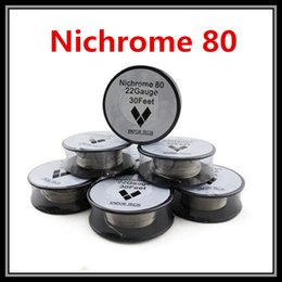 Wholesale 26 Gauge Nichrome Wire - VaporTech Nichrome 80 Heating Wire RBA Coils 30 Feet 22 24 26 28 30 32AWG Gauge for DIY E-Cigarette Atomizers DHL Free