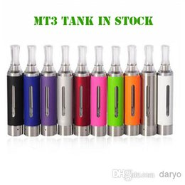 Wholesale Detachable Electronic Cigarette Atomizer - MT3 Tank 2.4ML Electronic Cigarettes MT3 Evod Vape Pen Rebuildable Buttom Coil Vaporizer Detachable Atomizer Clearomizer for EGO EVOD