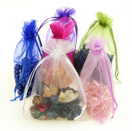 Wholesale Cosmetic Jewelry Wholesale - Jewelry Bags MIXED Organza Jewelry Wedding Party Christmas Gift Bags Cosmetic bag candy bags 7*9cm 100pcs LOT