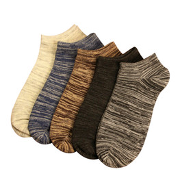 Wholesale Wind Socks - Wholesale- 5 Pairs New 2017 Man Short Socks Nation Wind Casual Socks Men Fashion Shallow Mouth Absorb Sweat Male Boat Socks