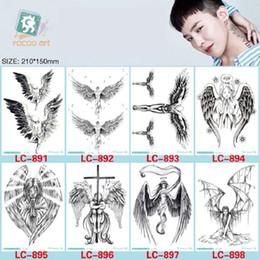 Flügel tattoo hand online-21 * 15 cm Temporäre gefälschte tattoos Wasserdichte tattoo aufkleber körperkunst Malerei für party dekoration etc große engelsflügel