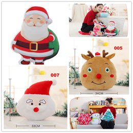 Wholesale Moose Toys - 8 Designs Santa Claus Christmas Moose plush Doll Toy snowman hand warmers pillow Xmas Christmas gifts Doll