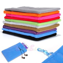 Wholesale Cloth Phone Bags - Universal velvet flannelette Mobile Phone Soft Cloth Bag Pouch Sleeve Case Cove for iPhone 6 6Plus Galaxy Note 4