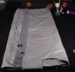 салон идеальный Скидка Горячая распродажа 3 зоны детоксикация сауна одеяло инфракрасной Ray сохранить здоровье портативный красоты для похудения
