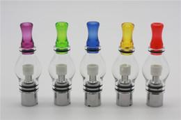 Atomizador de vidrio ego ce5 online-Pyrex Glass Globe CA atomizador más Vaporizador reemplazable CE4 CE5 GS-H2 atomizador Bombilla Atomizador eGo Clearomizer Globe Glass Pyrex Glass EGO