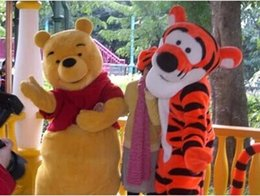 Wholesale Pooh Mascot Costumes - Wholesale - In-stock 2Pcs Couple Winnie the Pooh and Tigger Mascot Costume fast ship