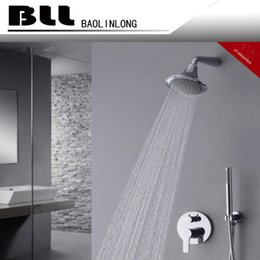 Wholesale Bathroom Shower Handles - BLL Tub mixer Brass faucet with wider Tap hand shower Round Rain Bathroom Shower Head Brass Hand Shower 7014A