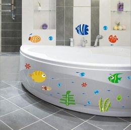 Wholesale Bubble Posters - DIY Cartoon 24*42cm Fish Bubble Vinyl Removable Kids Child Room Nursery Wall Stickers Poster Decal Mural Home Decor XY3001